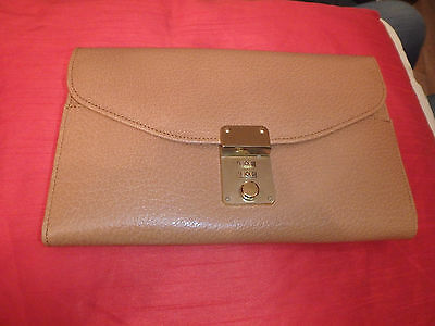 Smythson Leather Vintage Tan Travel Wallet with combination lock VGC