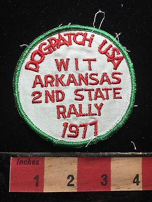 Vtg 1977 WIT Arkansas Rally Patch At DOGPATCH USA Defunct Amusement Park 71WO