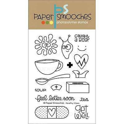 Paper Smooches 4 Inch X 6 Inch Clear Stamps-Healthy Vibes 817357010404