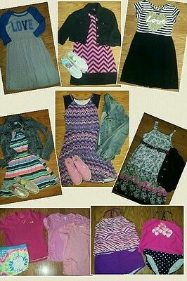 Huge lot of girl clothes 14 16 14/16 perfect Spring break start shoes dresses+++
