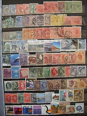 AUSTRALIA - nice postally used earlier/later mix on a well-filled stock card (2)