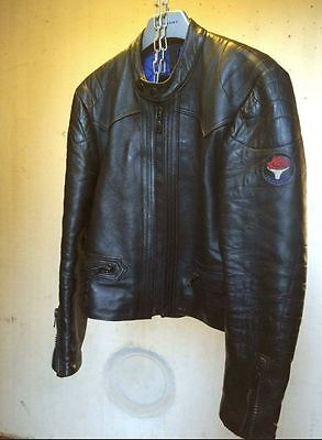 Men's 1970s Vintage KETT Black Leather Jacket (Medium)