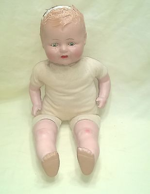Vintage Composition & Cloth Baby Doll Tlc As Is Scary $8.99