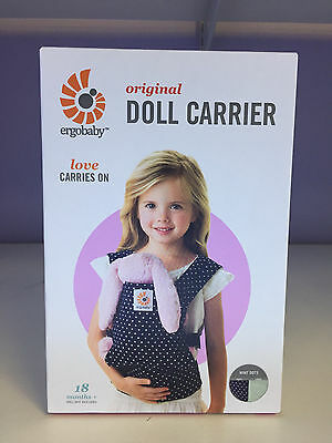 BRAND NEW in BOX ~ Ergobaby Doll Carrier - Indigo Mint Dots