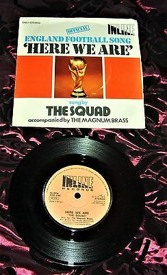 "Here We Are England Football Song 1975 7"" Single Record Sung By The Squad Revie"