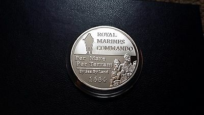 2016 Official commemorative Royal Marine Commando, silver plated medal-England