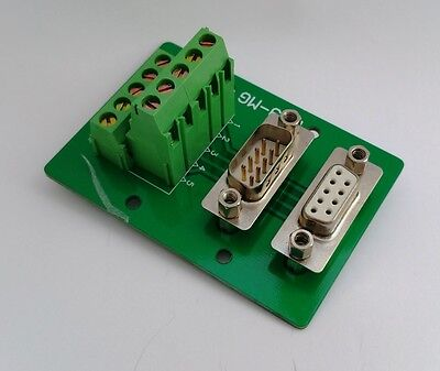 DB9 DSUB 9pin Male/Female Adapter Breakout Board Connector D18 : £10.75 FREE p&p