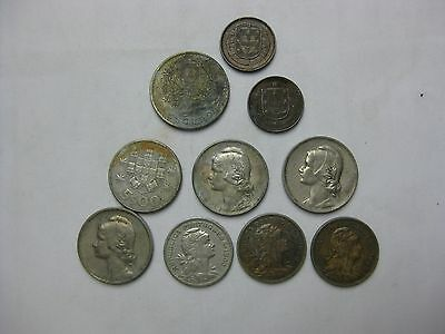 A LOT of 10  OLD Portuguese COINS, Starting as early as 1917    # C-46