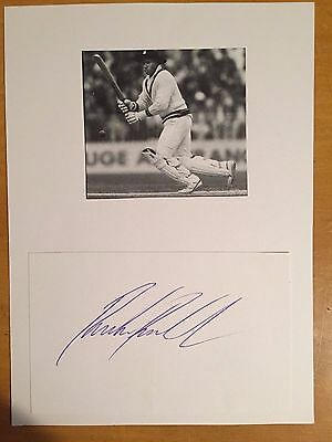 1980s Richie Richardson signed card & photo West Indies capt & Yorkshire
