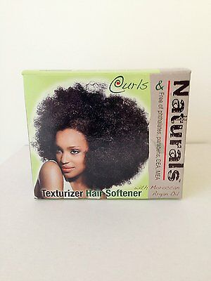 Curls & Naturals Texturizer Hair Softener Kit with Moroccan Argan Oil x 2 Kits