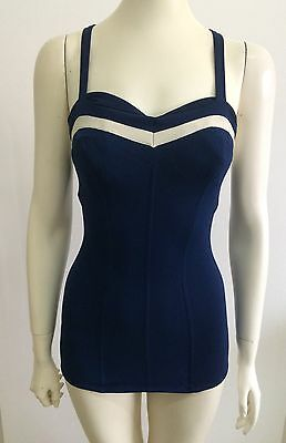 50s  60s Vintage Playsuit Swimsuit Bathers  Rockabilly Pinup Genevieve