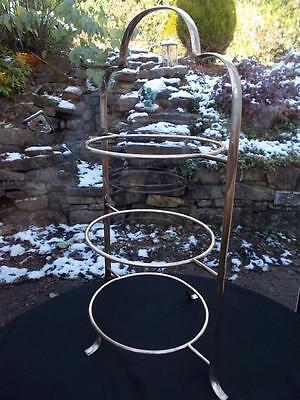 """Large Art Deco Silver Plated 1930S 3 Tier Cakestand 16"""" High  Bake Off Cupcakes"""