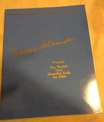 Madame Alexander Doll 1986 Collection Magazine Booklet Catalogue & Price Guide