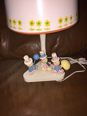 Nursery Childrens Lamp Wooden Marching Parade Child Baby Night Light Vtg