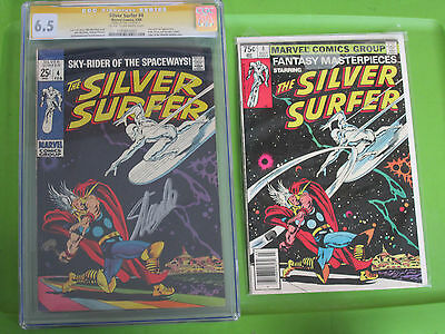 Silver Surfer #4 CGC 6.5 Signed Stan Lee signed in silver,, Thor, plus reader