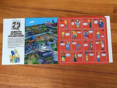 The Simpsons 20th Anniversary STICK'EMS Collector Album with 12 stick'ems