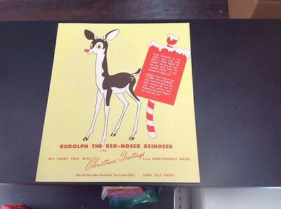 1949 Rudolph The Red Nose Reindeer Montgomery Ward Robert Lewis May Christmas