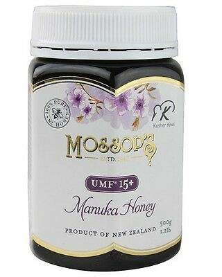 Pacific Resources International Mossops Manuka Honey UMF 15+ -- 1.1 lb exp. 2020
