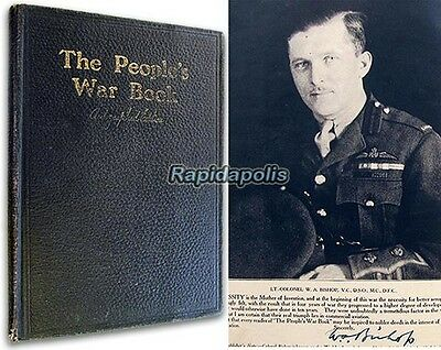 AUTOGRAPHED WW1 Ace Billy Bishop Subscription Edition THE PEOPLE'S WAR BOOK 1919