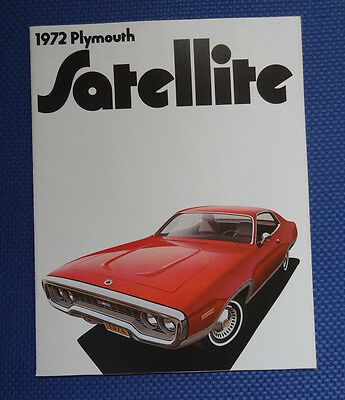 1972 Plymouth Satellite Brochure - with ROAD RUNNER - MINT New Old Stock