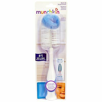 Munchkin 2-in1 Bottle & Teat Brush Choice Of Colour