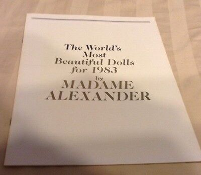 Madame Alexander Doll 1983 Collection Magazine Booklet Catalogue