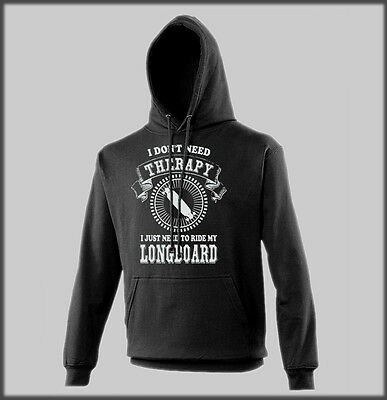Sanctuaries Edge Hoody Funny I Dont Need Therapy Longboard Skate Surf Present