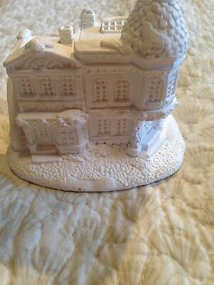 Creative Crafts Plaster Craft  Ready to Paint New Village House 91453