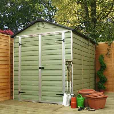 Plastic Apex Shed 8x6 (Green)