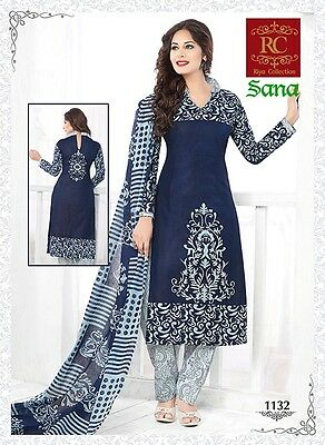 Salwar Kameez Indian Cotton Suit Bollywood Ethnic Wear Loose Material 1132