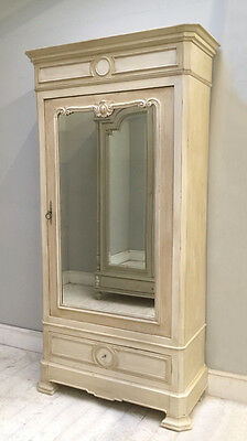 Decorative French Antique Painted Single Door Armoire