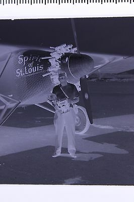 Los Angeles CA Photographer Sprit of St. Louis Airplane Original Photo Negative
