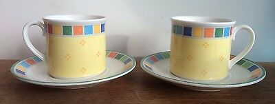 Villeroy & Boch Twist Alea Limone Cups And Saucers