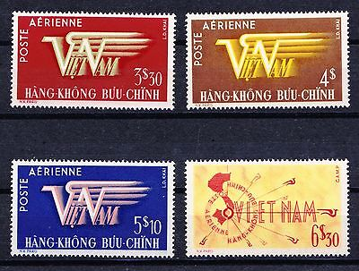 Vietnam 1952 Air Mail Issue  - 4 mint hinged values - (746)