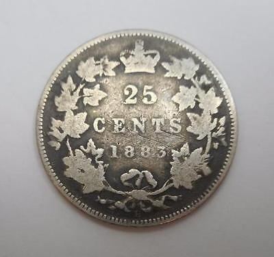 1883 Canada 25 Cents - Silver