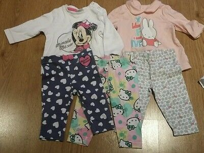 Baby girl character clothes bundle 0-3m