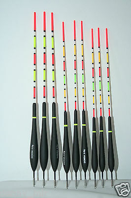 DENISA DS1 SLIDING FLOATS 9 PCS 2/3/4 g IN NEW WITH BOX DAIWA SHIMANO STICKER
