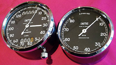 Smiths Chronometric Speedo and Rev Counter Pair - BSA Gold Star/A10 RR and SR