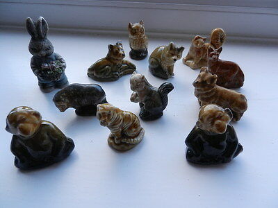 12 Wade Wimsie type animal figures. In very good condition