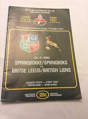 Springboks v British LIons first test Newlands 31st MAy 1980