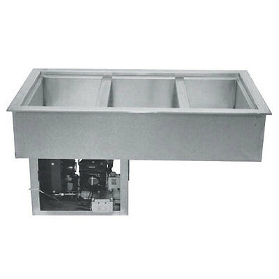 """Wells RCP-100 Built-In Single - 12"""" x 20"""" Bay Refrigerated Cold Food Well"""