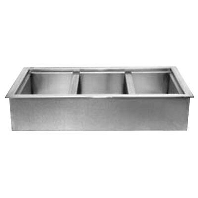 "Wells ICP-300 Built-In Three - 12"" x 20"" Bay Non-Refrigerated Cold Well"