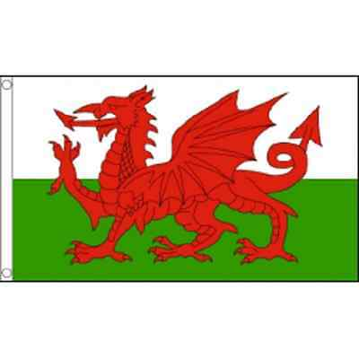 Welsh Flag - Wales National Flag - Welsh Dragon - 5ft x 3ft - Wales Flag - Rugby