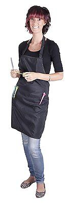 Professional Hairdresser's BLACK Apron - Salon Quality, Water-Repellent,