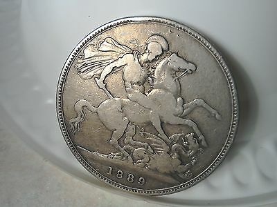 1889 solid silver crown