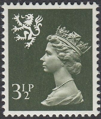 GB Stamps 1974 Scotland Machin Definitive 3.5p Olive Grey, 2 Bds, MNH, S/G S17