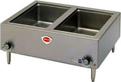 Wells TMPT 1800 Watt Countertop Dual Well Bain Marie / Food Warmer