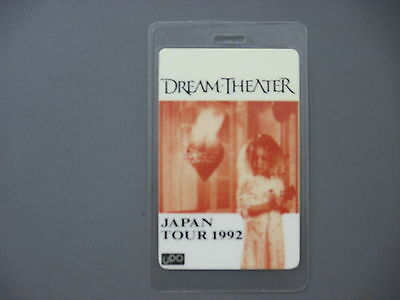 Dream Theater backstage pass Laminated Japan Tour 1992