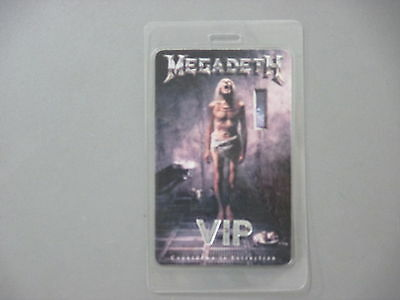Medadeth backstage pass laminated Countdown to Extinction VIP !