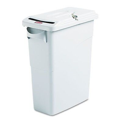 Rubbermaid 9W25 00 LGRAY Gray, Slim Jim Confidential Document Container 60 Liter